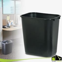 PLASTIC TRASH WASTE CAN Rubbermaid Garbage Recycle Bin 7 Gal