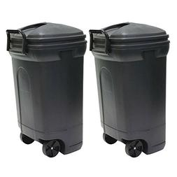 United Solutions 34 Gal. Plastic Wheeled Outdoor Trash Can -