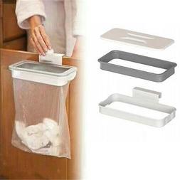Portable Kitchen Door Garbage Trash Bag Box Can Rack Plastic