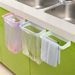 Portable Plastic Door Garbage Trash Bag Can Rack Holder Kitc