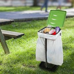 Portable Trash Bag Holder- Collapsible Trashcan for Garbage