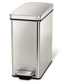 simplehuman 10 Liter / 2.6 Gallon Stainless Steel Bathroom S