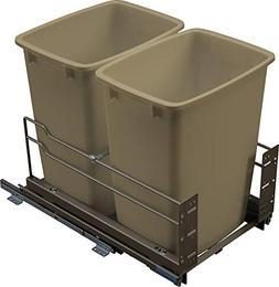Hafele Pull-Out Trash Can Kesseböhmer, 2 x 36 qt Capacity I