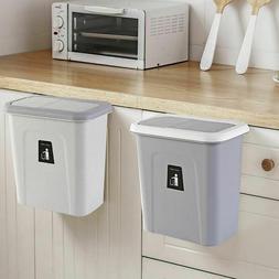 Push Top Hanging Trash Can Automatic Return Lid  Kitchen Gar
