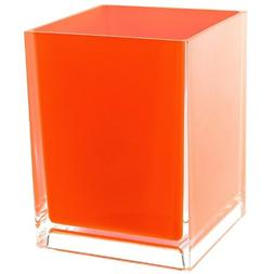 Gedy Rainbow Free Standing Waste Basket With No Cover, Orang