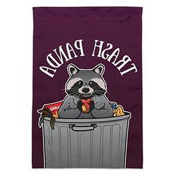 Graphics and More Raccoon Trash Panda in Garbage Garden Yard