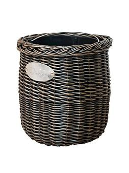 LWZY Rattan Rubbish Bin,Double Barrel Design Waste Bin With