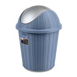 LWZY Rattan Rubbish Bin,Round Waste Bin Wastebasket Plastic
