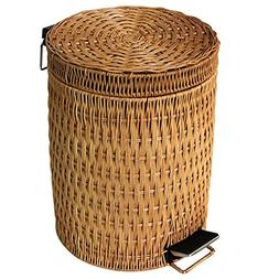 Rattan trash cans,Kitchen household garbage can bathroom ped
