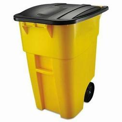 RCP9W27YEL - Rubbermaid-Brute Rollout Container, Yellow,50Ga