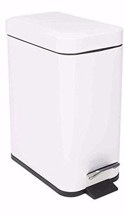 Home Basics 5L Rectangle Slim Garbage Can Waste Bin