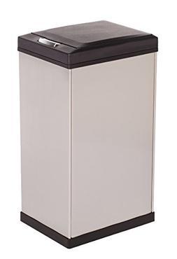 Kamenstein Rectangle Stainless Steel Trash Can, 40-Liter/10.