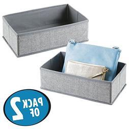 mDesign Rectangular Soft Fabric Dresser Drawer and Closet St