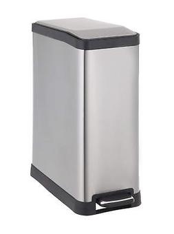 Home Zone Rectangular Step Trash Can - 12 Gallon / 45 Liter