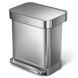 simplehuman 30L Rectangular Step Trash Can with Liner Pocket