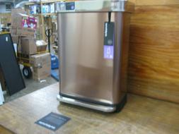 simplehuman 55 Liter / 14.5 Gallon Stainless Steel Rectangul
