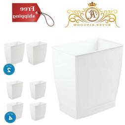 Rectangular Trash Can Wastebasket Garbage Container Bathroom
