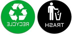 Recycle & Trash Premium Quality Stickers  for Use on Trash C