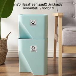 Recycle Bin Kit Stackable Garbage Waste Containers Stacking