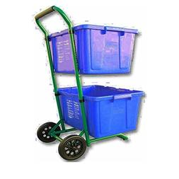 GT Recycle Bin Trolley Garbage Can Trash Cart with Wheels Po