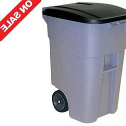STS Recycle Bin Trolley Garbage Can Trash Cart with Wheels P