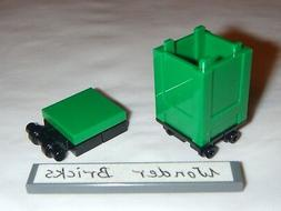 Lego Recycle Container Green w/ Lid 4206 Box Garbage Trash C