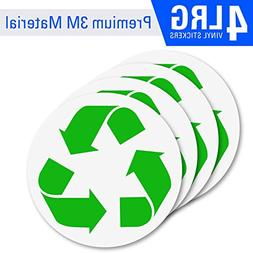 4 Pack  Recycle logo sticker to organize your trash - For tr
