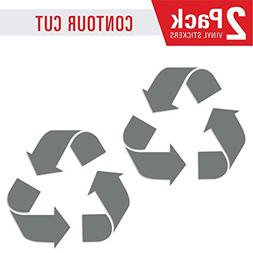 Recycle symbol sticker decal  to organize trash cans or garb