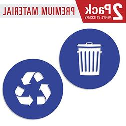 Recycle and trash sticker logo style 2  symbol to organize t
