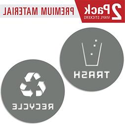 Recycle and trash sticker vinyl modern logo  symbol to organ