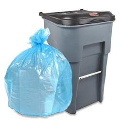 "95-96 Gallon Recycling Trash Bags, 61""W x 68""H, 1.5 Mil, Blu"