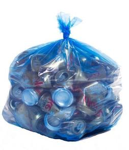 ToughBag, Blue Recycling Bags, 33x39, 33 Gal, 100/case, 1.2