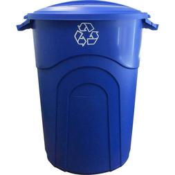 32 Gal. Recycling Trash Can Outdoor Garbage Bin Waste Contai