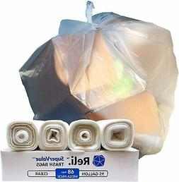 Reli. SuperValue 95 Gallon Trash Bags  Clear 95 Gallon Garba