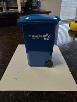 Republic Services Mini Desk Garbage Trash Bin Cart Can Toter
