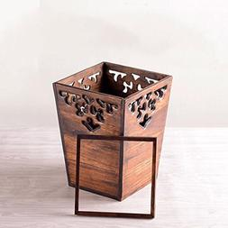 Retro wooden trash cans,Creative home living room bedroom ki