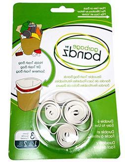 Garbage Bandz Reusable Elastic Rubber Bands For Trash Cans,