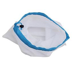 3 PCS Reusable Nylon Mesh Bags Rope Vegetable Toys Storage P