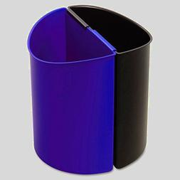 Reusable Recycling Bin Blue and Black Kitchen Dual Large Tra
