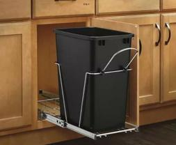 REV-ASHELF Pull-Out Trash Can 35Qt Waste Container Garbage B
