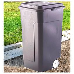 Rolling Trash Can 50 Gallon Recycling Bin Garbage Pet Proof