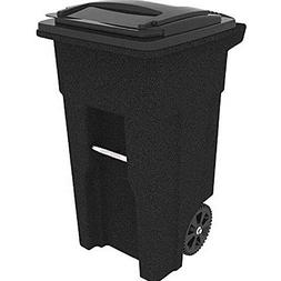 Rollout Trash Can Cart Outdoor Heavy Duty Waste Bin 32 Gal G