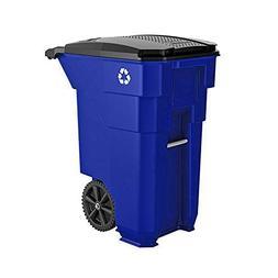 Rollout Trash Can Outdoor Heavy Duty Waste Bin 190 Liters Ga
