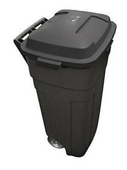 Rubbermaid Roughneck Heavy-Duty Wheeled Trash Can, 34-Gallon