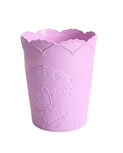 MYtodo Round Butterfly No lid table Trash can Plastic Office