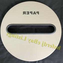 Round Metal Garbage Can Receptacle Paper Recycling Slot Repl