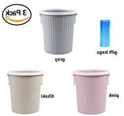 ZHOUWHJJ Round Plastic Trash Can Wastebasket Trash Bin with