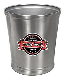 The Furniture Cove Round Stainless Steel Finish Trash Can Wa