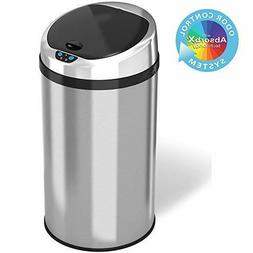 iTouchless Round Stainless Steel Touchless Trash Can : 8 Gal