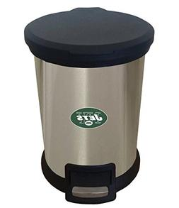 The Furniture Cove New 1.3 Gallon Round Stainless Steel Step